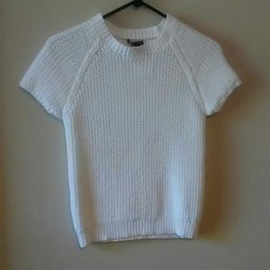 THEORY White Thick Knit Sweater( S)
